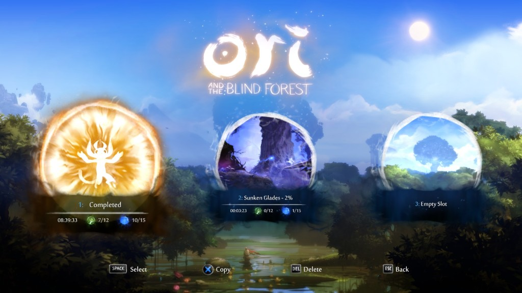 Your saved games in Ori and the Blind forest. At first I thought it was a nice rewarding receiving a golden portrait of your saved game, but after realising that I were locked out of my saved game, I felt it as a poor retention design choice.